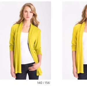 MOD.LUSIVE OPEN FRONT LIME GREEN CARDIGAN